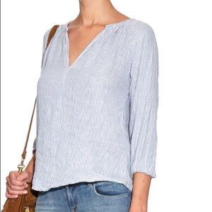 Velvet graham spencer Fran stripe cotton blouse